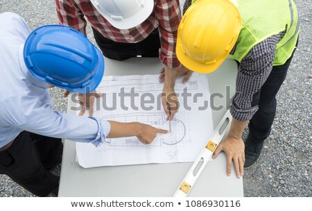 engineer reading plans stock photo © photography33
