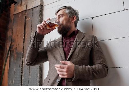 Işadamı cam viski kokteyl yaşam tarzı Stok fotoğraf © pedromonteiro