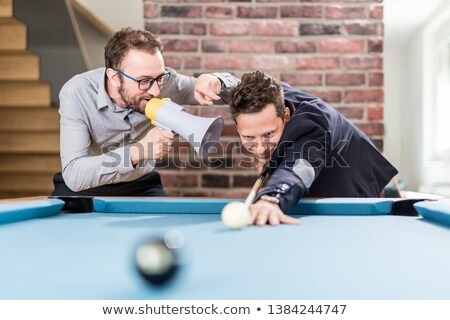 Biliárd nyertes jóképű férfi játszik golyók klub Stock fotó © lunamarina