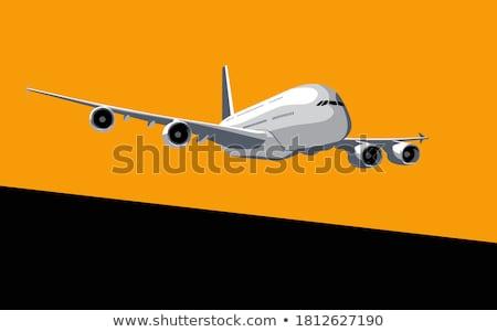 Airbus sunrise illustration avion ciel bleu Photo stock © mechanik