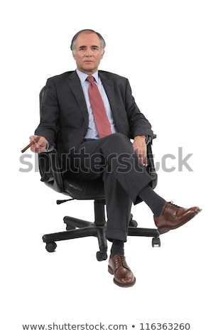 Businessman sitting in a swivel chair Stock photo © photography33