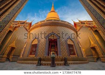 Stupa (chedi) of a Wat in Thailand Stock photo © 3523studio