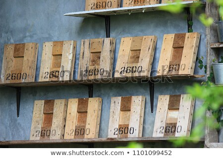 velho · vintage · horizontal · árvore · parede - foto stock © pzaxe