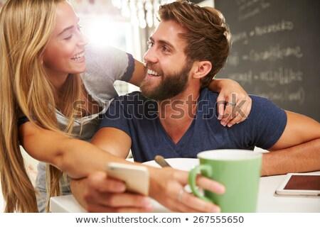Сток-фото: пару · еды · чаши · зерновых · продовольствие · любви