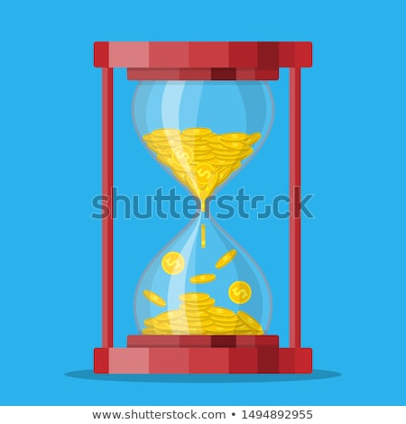 Hour Glass wiyh money isolated Stock photo © shutswis