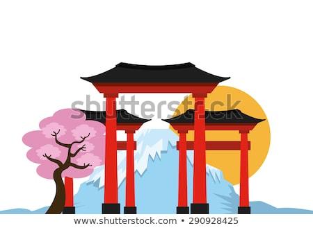 imzalamak · duvar · Çin · tapınak · ağaç · ahşap - stok fotoğraf © bobkeenan