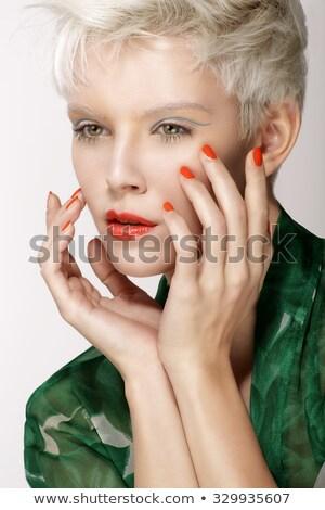 美少女 健康 クリーン 皮膚 シック 赤い唇 ストックフォト © gromovataya