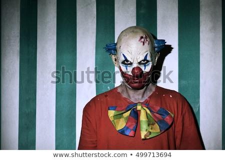 портрет · гнева · клоуна · изолированный · белый · красный - Сток-фото © sumners