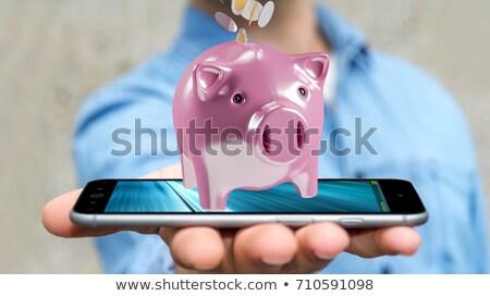 Golden Euros Inside Smartphone Stock photo © sdecoret