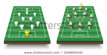 Football soccer field pitch vector with player jerseys Stock photo © experimental