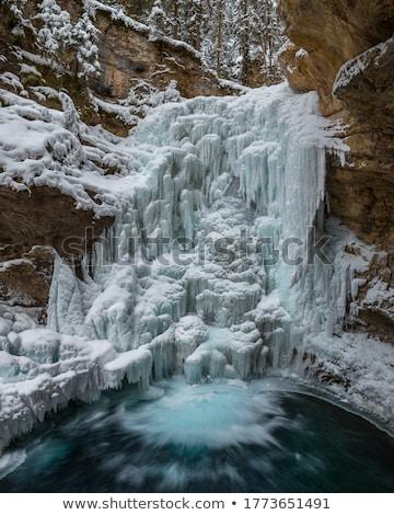 Dondurulmuş çağlayan güzel buz oluşum su Stok fotoğraf © samsem