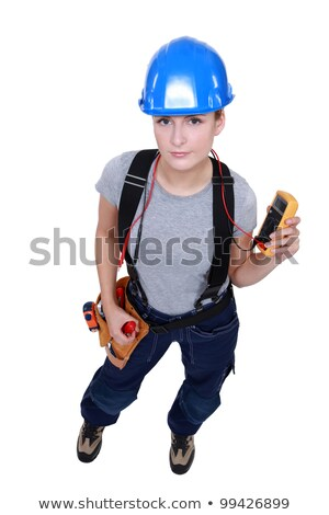 electrician taking reading Stock photo © photography33