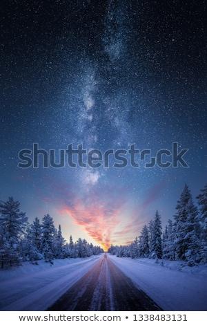 perigoso · inverno · tempo · noite · neve · nevasca - foto stock © ssuaphoto