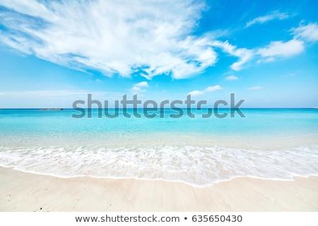 熱帯ビーチ · 青空 · 太陽 · 自然 · 背景 · 美 - ストックフォト © leungchopan