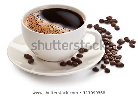 Stockfoto: Koffiebonen · beker · koffiekopje · koffie · geserveerd · textuur