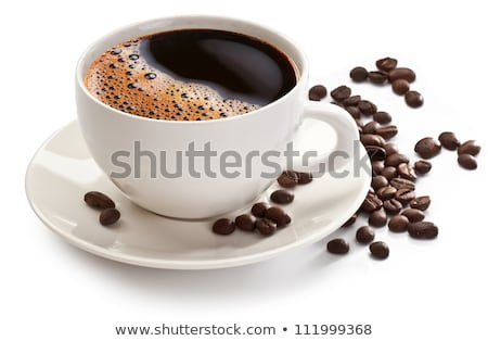 Koffiebonen beker koffiekopje koffie geserveerd textuur Stockfoto © justinb