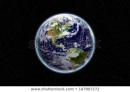 Güney amerika toprak dünya gezegen siyah uzay Stok fotoğraf © Lightsource