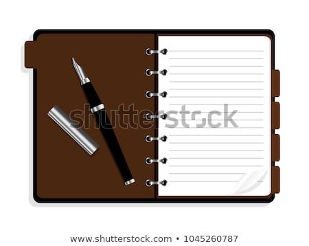 Soyut mektup kalem ofis kelebek toplantı Stok fotoğraf © rioillustrator
