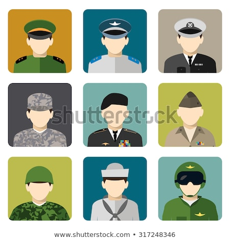 Avatar people icons (army) Stock photo © carbouval