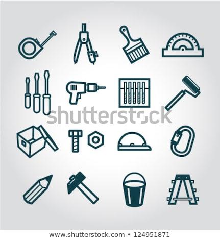 Résumé détaillée outil icône construction fond Photo stock © rioillustrator