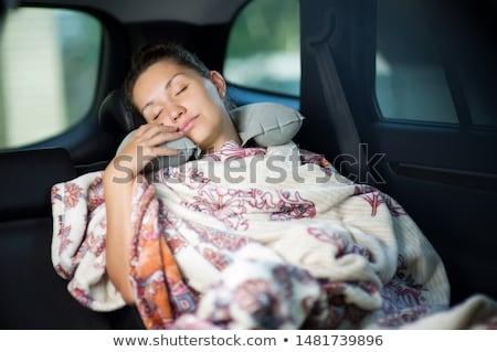 girl sleeps in a car stock photo © nobilior