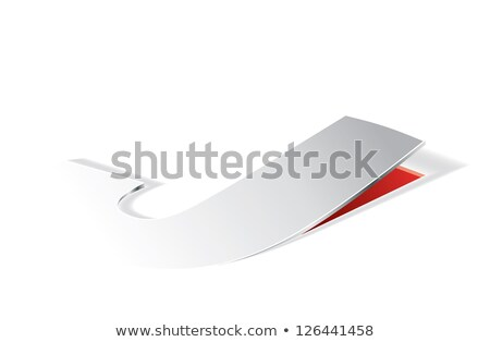 Paper folding with letter J in perspective view Stock photo © archymeder