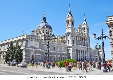 マドリード ロイヤル 宮殿 側面図 スペイン 家 ストックフォト © Bertl123