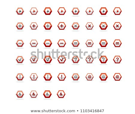 question-mark sign with arrows in red hexagon Stock photo © marinini