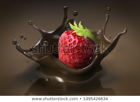 клубники расплавленный шоколадом фрукты клубника Sweet Сток-фото © M-studio