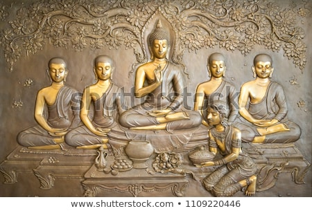Antique Wooden Buddha Stock photo © winterling