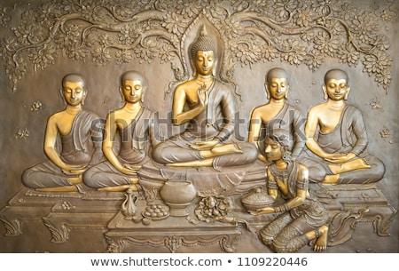meditando · buda · estátua · bronze · sessão · posição - foto stock © winterling
