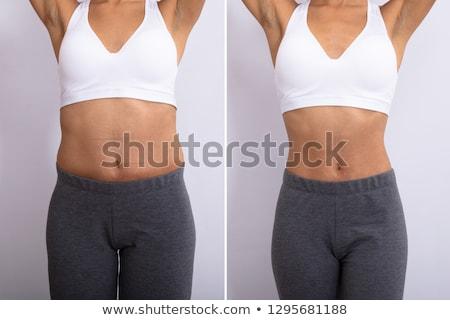 maag · gezondheid · tonen · vrouw · buik · voorzichtigheid - stockfoto © dolgachov