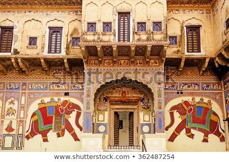 Dekore edilmiş tipik ev boyama Tanrı Stok fotoğraf © faabi