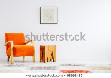 iç · mimari · modern · kırmızı · beyaz · siyah · sandalye - stok fotoğraf © smuay