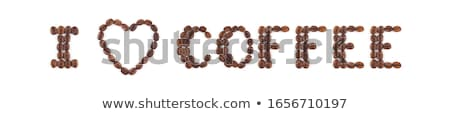 Heart symbol from coffee beans. Stock photo © justinb
