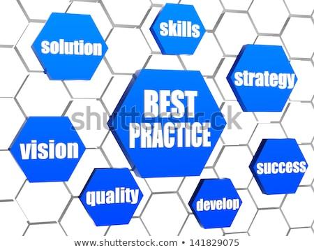 O melhor prática negócio palavras azul sucesso Foto stock © marinini