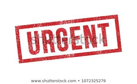 Fontos piros pecsét felirat izolált fehér Stock fotó © tashatuvango