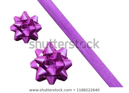 Purple bow isolated on a white background stock photo © impresja26