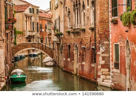 Anchored gondolas in Venice Stock photo © Hofmeester