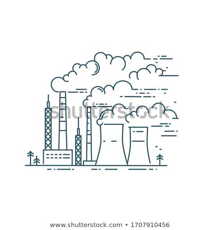 Industrial luz fábrica planta alto químico Foto stock © ctacik