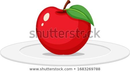 Elma yemek olgun gala hardal sarı Stok fotoğraf © fotogal
