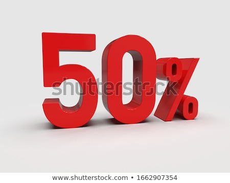 3D 50 procent Rood groene Stockfoto © maxmitzu