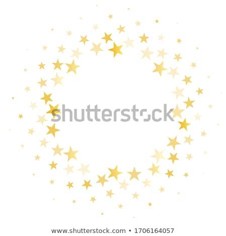 Cósmico círculo estrellas ilustración noche estrellas Foto stock © yurkina