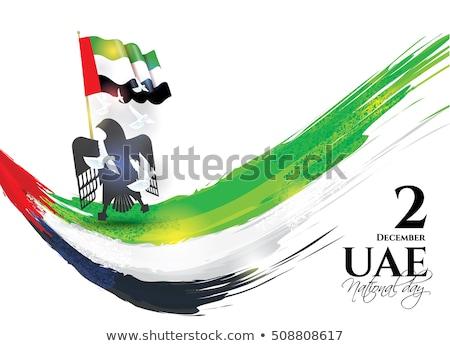 the United Arab Emirates flag themes Stock photo © kiddaikiddee