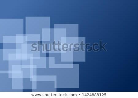 Modern bilgisayar soyut mavi vektör geometrik Stok fotoğraf © MPFphotography