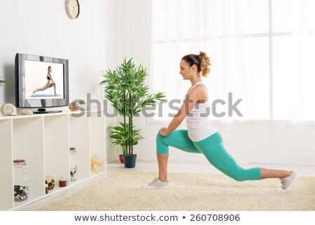 Donna tv home donne televisione Foto d'archivio © HighwayStarz