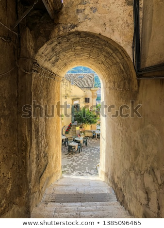 traditional houses of modica in sicily italy Stock photo © travelphotography