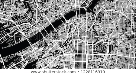 Осака город центра плотный Skyline район Сток-фото © cozyta