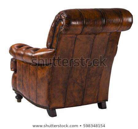 Deri doku sandalye geri pembe renk Stok fotoğraf © sundaemorning