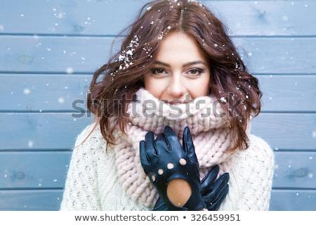 Close up wool gloves and scarf  Stock photo © nalinratphi
